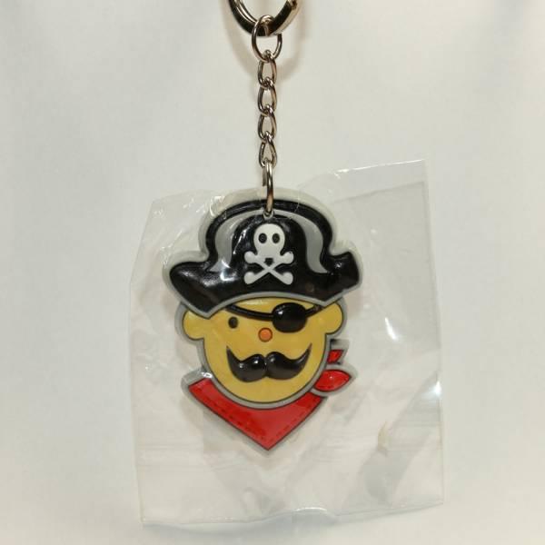"""Schlüsselanhänger """"Pirates only"""", Pirat mit rotem Halstuch (PVC)"""