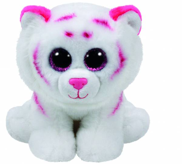 """Ty Beanie Boos, """"Tabor"""", Tiger pink weiss, ca 15cm"""