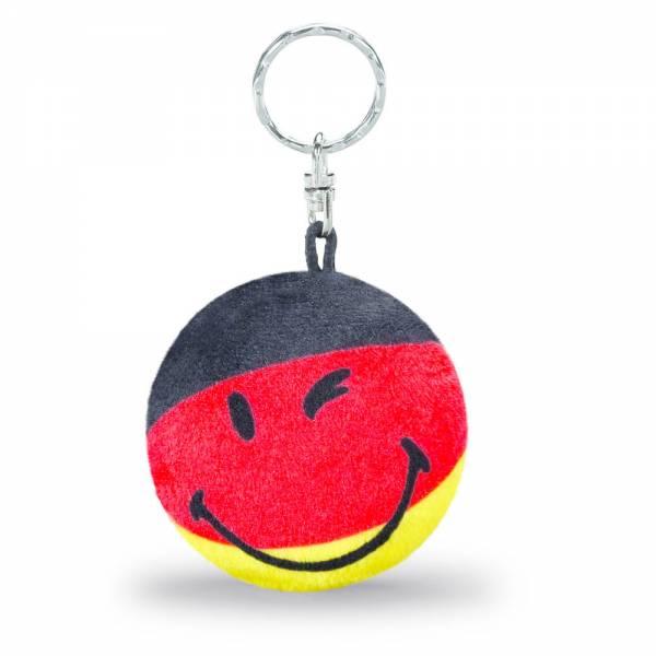 Nici Schlüsselanhänger Smiley, s/r/g, ca 6 cm