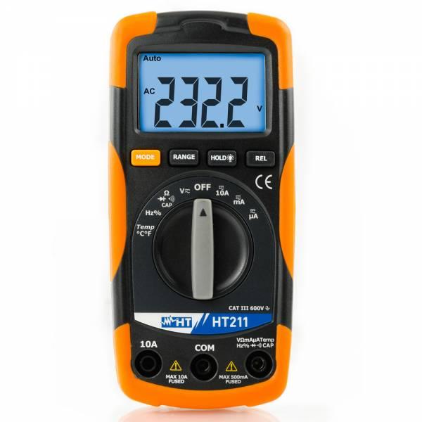HT-Instruments HT211 Kompaktes Digitalmultimeter mit Temperaturmessfunktion