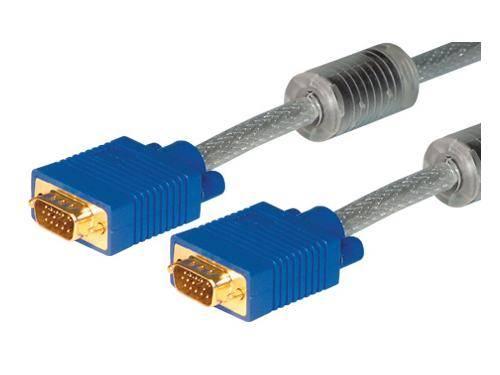 S-VGA Monitorkabel High Quality, vergoldet, 15pol HD D-Sub St./St., 30m