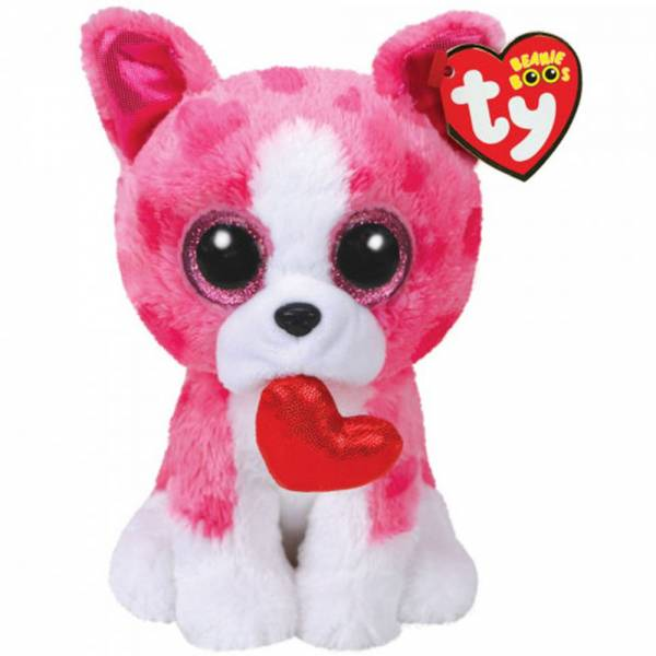 "Ty Beanie Boos, ""Romeo"", Hund mit Herz, ca 15cm"