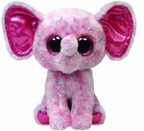 """Ty Beanie Boo's """"Ellie"""", Elefant, pink gepunktet, ca 24cm"""