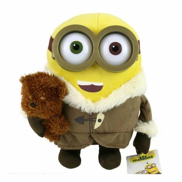 Minions: Minion mit Mantel und Bär ca. 22 cm, Plüsch, BOB