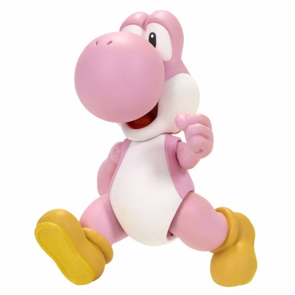 Nintendo Figur (10cm) W3 - Yoshi (pink) mit Ei