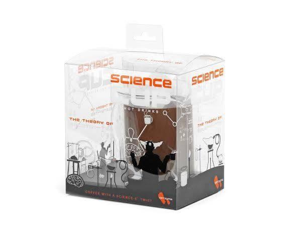 """SATZUMA Kaffeebecher """"Wissenschaft"""", Science Cup, Glas"""
